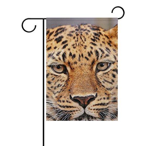 Bennigiry Motif léopard Polyester Garden Drapeau Bannière 30,5 x 45,7 cm, vintage rétro Bienvenue Yard Drapeau pour mariage Home Décor de jardin extérieur, Polyester filé, multicolore, 12x18(in)