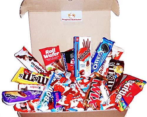 Mistery Italian Kinder Box Ferrero Confezione Assortita 60 Pezzi Snack Barrette Cioccolato Mini Kinder Ferrero Kitkat M&m's Idee Regalo