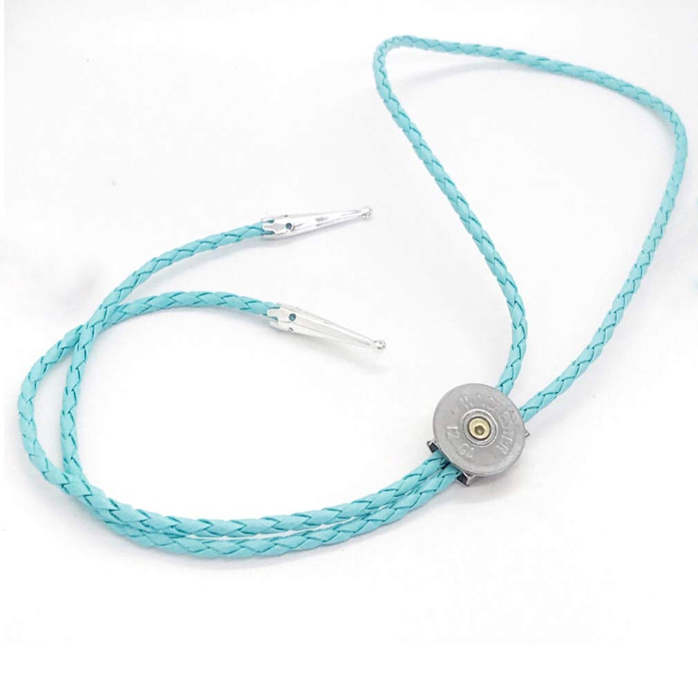 12 Gauge Max 70% OFF Shotgun Shell Bolo Tie Turquoise Gift Cord Fo Bola Max 73% OFF
