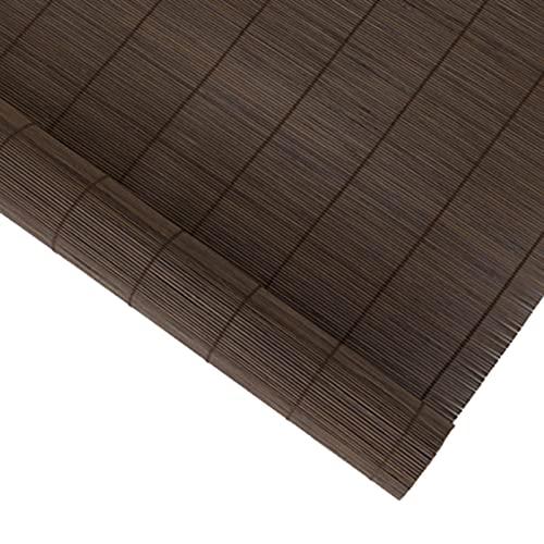 QYQS Patio Shades Roll Up Outdoor Light-Shielding Isolamento Tasso di ombreggiatura del 50% Patio Shades Blocco del Sole con Valiganità Tapparella Bamboo(Size:80x100cm)