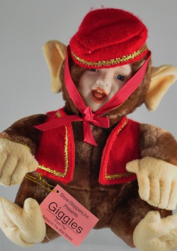 Show-Stoppers Collectible Porcelain Doll GIGGLES - From the Babes in the Wild Series - Bellhop Monkey