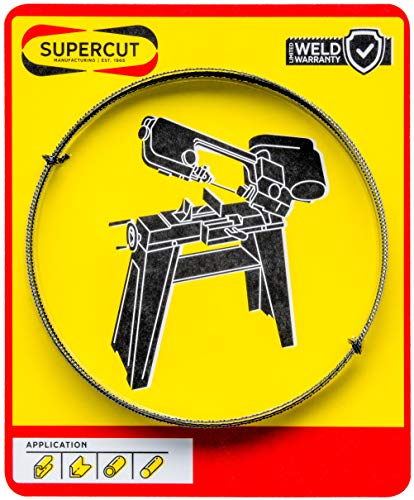 Supercut Band Saw Blade 64 1/2-inch X 1/2-inch X .025-inch, 20-24 TPI Bimetal Blade for Cutting Mild Steel, Stainless Steel, and General Purpose Materials