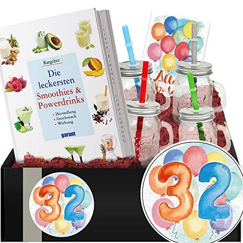 Geschenkidee 32. Jubiläum - Smoothie Geschenk Set - Geburtstagsgeschenk 32