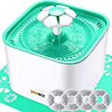 Pet Fountain Cat Dog Water Dispenser With Pump And 4 Replacement Filters - Healthy And Hygienic 2L Super Quiet Automatic Electric Water Bowl, Drinking Fountain For Dogs, Cats, Birds And Small Animals