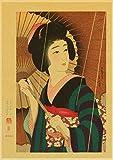 HuGuan PóSter Y Estampados 60x90cm Estilo Antiguo japonés Adecuado para la decoración del hogar T25 Lienzo Pintura Pared Arte Cuadros Sin Marco