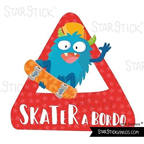 Skater an Bord – Baby mit Dreieck fürs Auto – Castellano