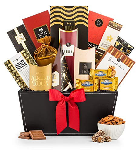 GiftTree Broadway Gourmet Gift Basket | Almond Roca, Seasoned Nuts and Candies, Popcorn & More | Send Your Sincerest Greeting at Any Holiday | Christmas, Anniversary, Birthday, Thank You Gift