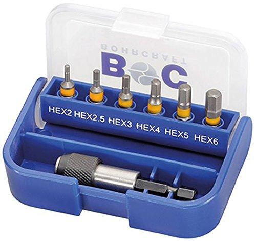 Boor Craft 69.001430072 bitset, bitbox, 7-delig, zeskant/inbus 25 mm