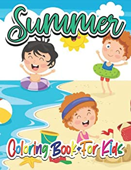 Summer Coloring book for kids  A Day at the Beach Summer Vacation Beach Theme Coloring Book for Preschool & Kids