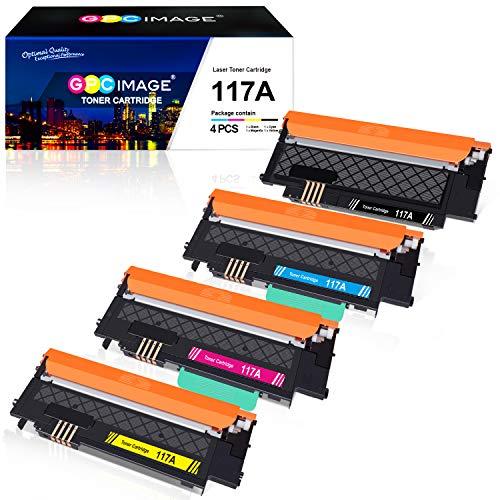 GPC Image 117A Kompatibel Toner Patronen Ersatz für HP 117A für HP Color Laser 150a 150nw 150w MFP 178nw 178nwg MFP 179fnw 179fwg Druckerpatronen (Schwarz Cyan Magenta Gelb, 4-Pack)