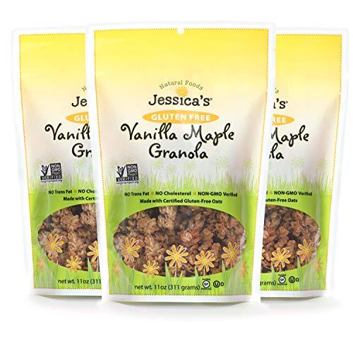 Jessica's Natural Foods, Gluten-Free Vanilla Maple Granola 11oz (PACK of 3)