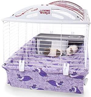 Piggy BedSpreads Fleece Cage Liner for Hagen Living World Cage Guinea Pig Bedding