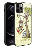 Phone Case Compatible with iPhone 12 iPhone 12 Pro TPU Soft Bumper Hard PC Slim Protective Back Cover 6.1-Inch (Winnie Pooh Tigger Piglet Eeyore Drawing)