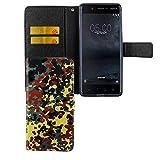 Handy-Hülle Kompatibel mit Nokia 5.1 2018 Bookstyle Bundeswehr - Wallet Case Kunst-Leder Klapphülle mit Magnet-Verschluss und Kartenfach