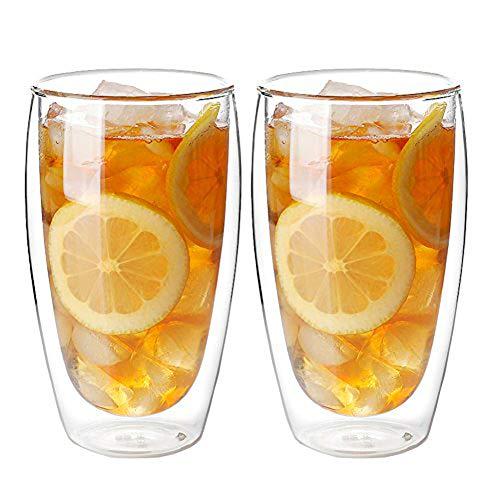 LuluLife グラス コップ ダブルウォールグラス パヴィーナ 400ml 2個セット