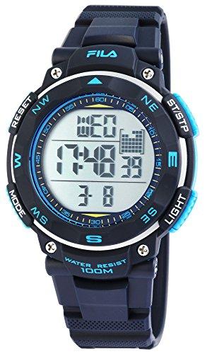 Fila deportivo reloj de hombre digital 10bar luz Alarma 38–824–002