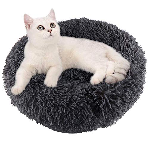 Warme tierbett katzenbett Weiches und Komfortables Katzennest Rutschfestes und Weiches Rundes Katzen Schlafsofa Katze Schlafen Betten für Katzen und Welpen (50cm)
