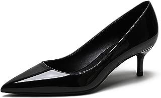 Eldof Women's Kitten Heel Pumps Pointed Toe Low Heels Slip on Comfort Pumps 2.6 Inches for Dress Party Office