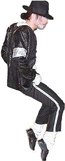 Disfraz de Cosplay para Hombre Michael Jackso Cosplay Disfraz de Adulto para niño Cos 5pcs Chaqueta + pantalón + Calcetines + Guante + Sombrero