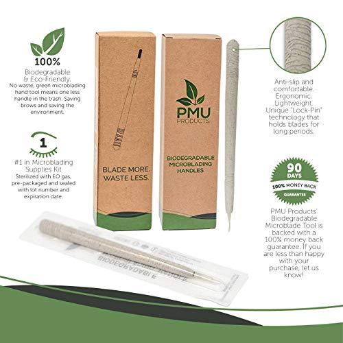 PMU Eco-Handles – 100% Biodegradable Green Microblading Handles Eco-Friendly – 5 pieces