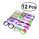TOYMYTOY Led Party Brille,Leuchten Brillen Party Favors Funkelnde Sonnenbrille, 12 Stück