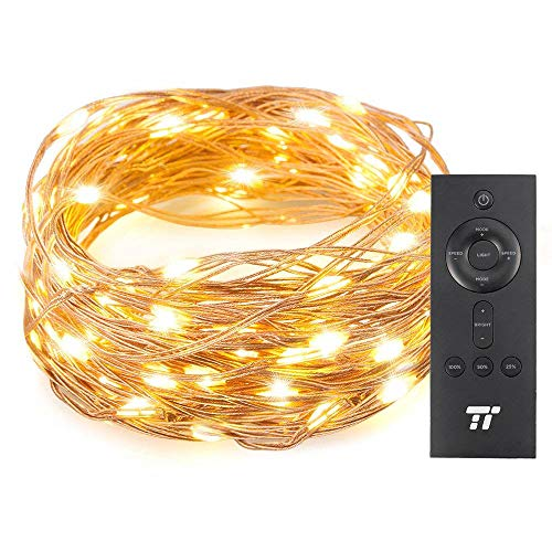 TaoTronics 33 ft 100 LED String Lights With RF Remote Control, Super Soft Copper Wire Waterproof Outdoor And Indoor Decorative Lights For Bedroom, Patio, Garden, Gate, Yard, and More