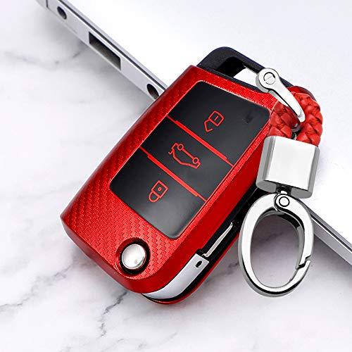 ontto para VW Funda de llave plegable para coche llavero carcasa protectora de suave TPU carcasa par