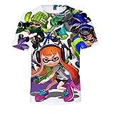 Splatoon Camisetas Moda Cute Printing tee Camiseta for niños Camisetas Casuales Camisetas de Manga...