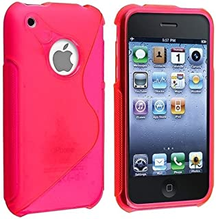Generic Rubber TPU Gel Hard Case Skin Cover for Apple iPhone 3g 3gs 8gb 16gb pink 43235-39095