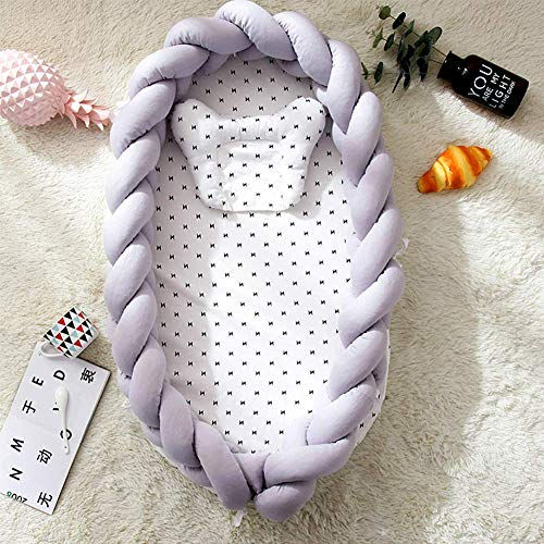 Cuna Acogedor bebé, Cuna en la Cama, de algodón Tejido portátil Plegable...