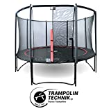 France Trampoline - Trampolín Redondo + Filete Booster Black–diámetro de 300a...