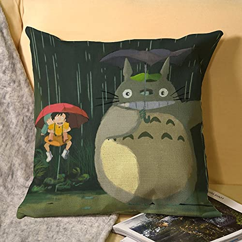 My Neighbor Totoro - Fundas de cojín decorativas de microfibra suave para sofá, dormitorio