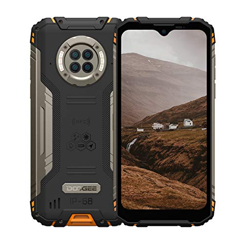 Rugged Phone Unlocked DOOGEE S96 Pro 8GB+128GB Infrared Night Vision Helio G90 Octa Core Waterproof Android Phone, 48MP+20MP, 6.22' + Global 4G LTE GSM AT&T T-Mobile Dual SIM Phone 6350mAh(Orange)