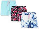 Spotted Zebra Knit Jersey Play Shorts Pantalones Cortos, Paquete de 3 Tie-Dye camaleón, S