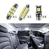 per 318 320 320i 325 335 E90 E92 Super Luminoso Sorgente luci Interne a LED Lampada per Auto abitacolo Lampadine di Ricambio Bianca Confezione da 12
