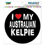 Graphics and More I Love My Australian Kelpie Stylish Automotive Car Refrigerator Locker Vinyl Magnet