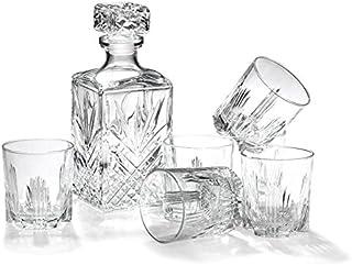 7-teiliges Whiskey-Geschenk-Set von Bormioli Rocco inkl. Dekanter und 6&nbspDouble Old Fashioned Rocks Gl&aumlser
