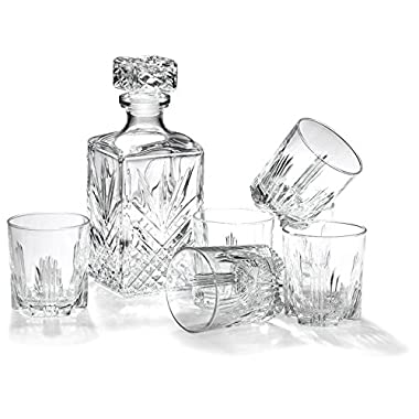 Bormioli Rocco 7-Piece Selecta Whisky Decanter and Glasses Gift Set,