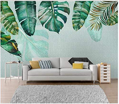 3D Wallpaper Canvas Art Print Wall Mural Poster Green Leaf Geometry Photo Wallpapers Murals Picture Design Modern 430X300Cm
