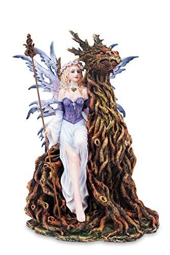 Les Alpes Orig. Fata TAMESIS, 28 cm - Collezione Fairy Land - Statuetta Figura Dipinta a Mano, Altezza 28 cm - Scopri la magia - 042 727