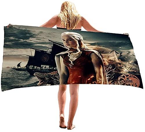 Proxiceen Toalla de playa de Juego de Tronos de Juego de Tronos, secado rápido, multifunción, toalla de baño para los amantes de los juegos (100 x 200 cm, A 12)