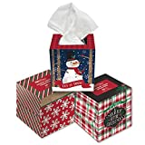 B-THERE Bundle of 3 Christmas Holiday Boxes of Facial Tissues, Each Box Contains 50 White Tissues