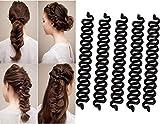 VASANA 5 unids negro moda francés pelo peinado clip stick bollos Maker Twist Trenzado pelo trenzado herramienta rodillo bollo fabricante DIY accesorios de peinado para mujeres niñas