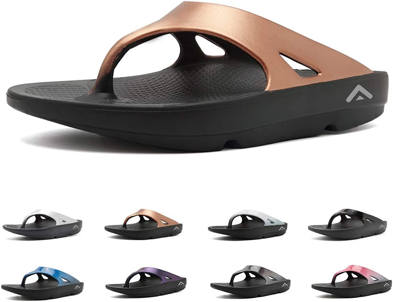 FANTURE Men & Women's Flip FlopsThong Foot Pain Relief Arch Support Sandals Recovery Ultra Soft Slippers