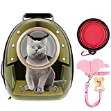 FPVERA Cat Backpack Carriers Pet Bubble Backpack Carriers for Cats Puppy Dogs and Birds Ventilate Transparent Capsule Carrier Backpack for Travel, Hiking and Outdoor Use