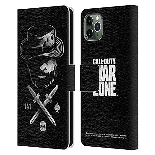 Head Case Designs Activision Call of Duty Warzone Capitán Price Knives - Funda de piel con tapa para iPhone 11 Pro Max
