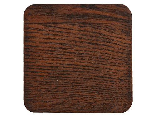 CREATIVE TOPS Naturals Eschenfurnier Getränke Untersetzer, 10,5x 10,5cm (4Stück), Holz, braun, 10,5x 10,5x 0,5cm