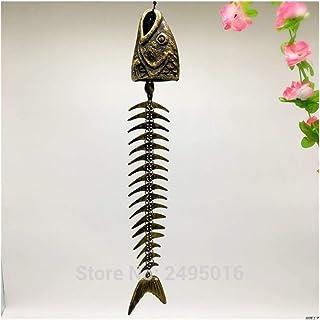MIYU Iron Wind Bells Lucky Fengshui Wind Chime Metal Garden Windchime Hanging Ornament Indoor Outdoor Decor