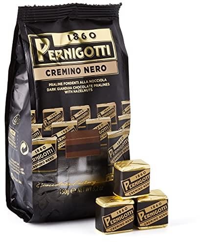 Pernigotti, Praline Cremino di Cioccolato Gianduia Fondente, con uno Strato di Crema alle Nocciole, Senza Olio di Palma, Senza Glutine, Confezione da 150 gr