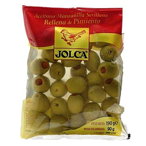 Jolca - grüne Oliven mit Parika gefüllt - Beutel